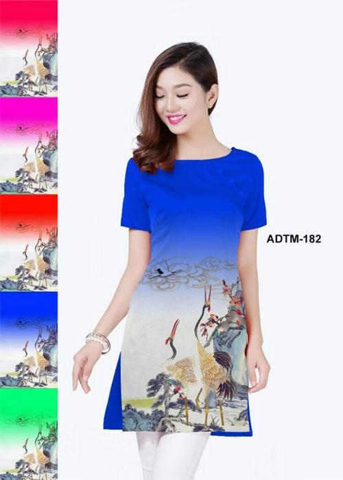 Vải áo dài cách tân in 3D in 3D mã số ADTM-182