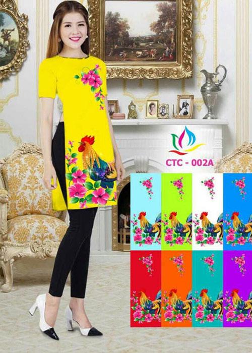 Vải áo dài cách tân in 3D in 3D mã số CTC-002A