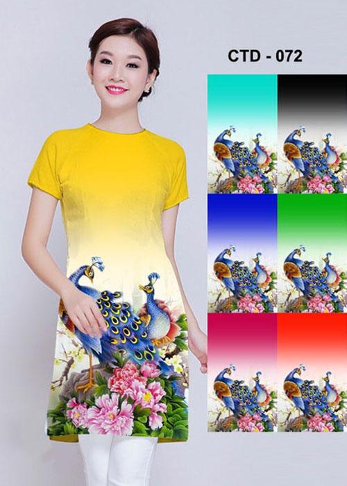 Vải áo dài cách tân in 3D in 3D mã số CTC-072