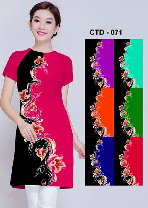 Vải áo dài cách tân in 3D in 3D mã số CTC-071