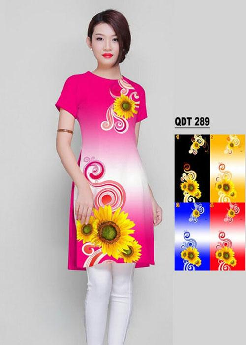 Vải áo dài cách tân in 3D in 3D mã số QDT-289
