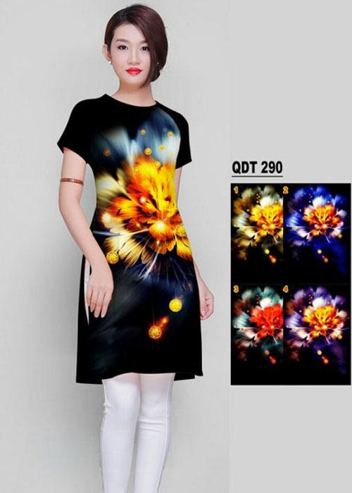 Vải áo dài cách tân in 3D in 3D mã số QDT-290