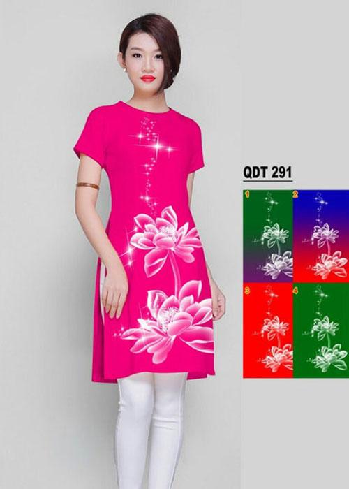 Vải áo dài cách tân in 3D in 3D mã số QDT-291