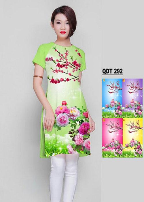 Vải áo dài cách tân in 3D in 3D mã số QDT-292