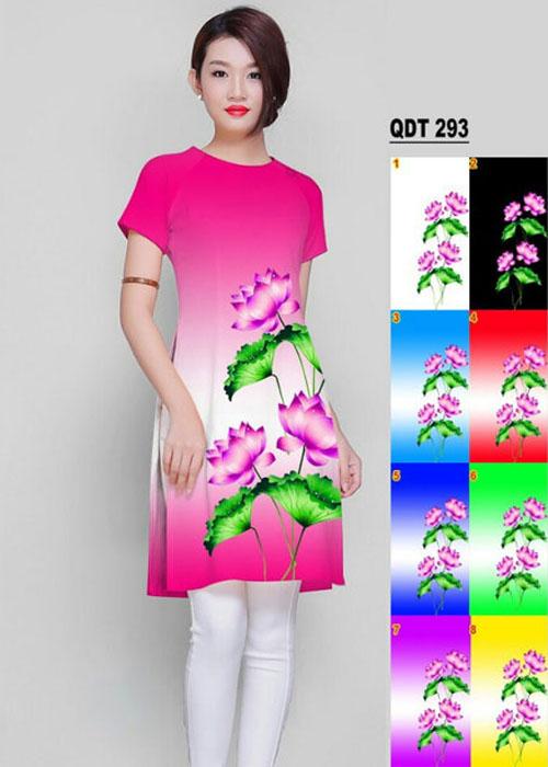 Vải áo dài cách tân in 3D in 3D mã số QDT-293