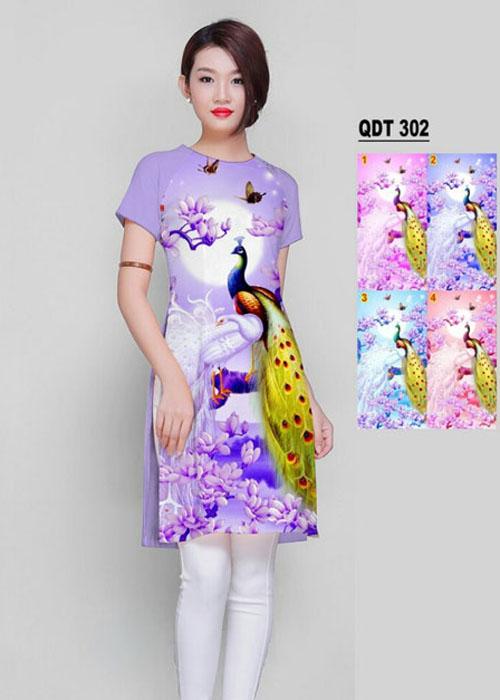 Vải áo dài cách tân in 3D in 3D mã số QDT-302