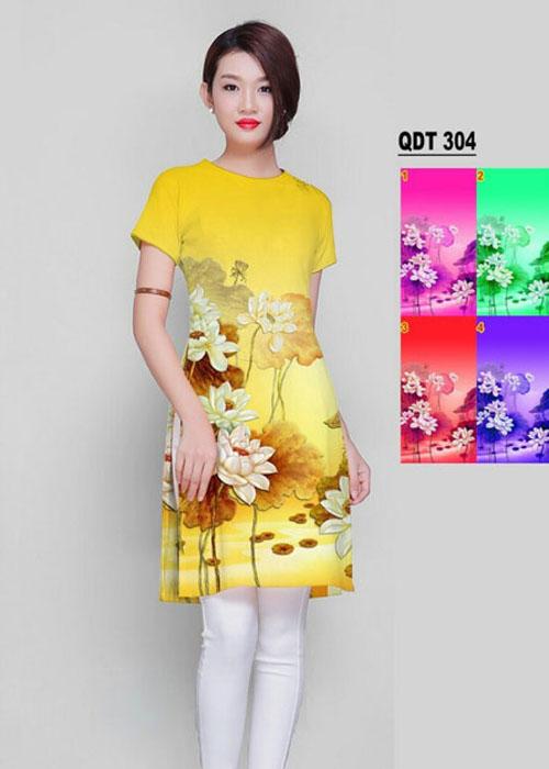 Vải áo dài cách tân in 3D in 3D mã số QDT-304