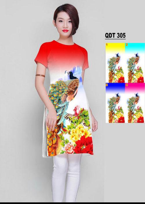 Vải áo dài cách tân in 3D in 3D mã số QDT-305