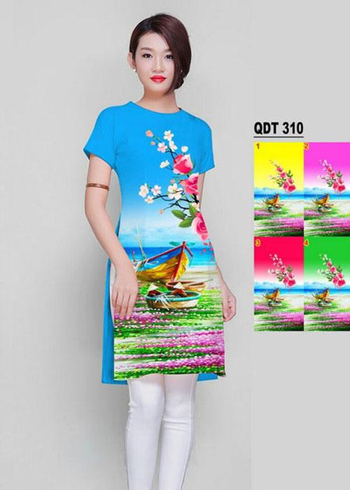 Vải áo dài cách tân in 3D in 3D mã số QDT-310