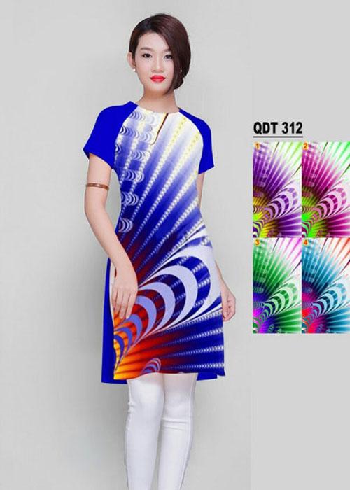 Vải áo dài cách tân in 3D in 3D mã số QDT-312