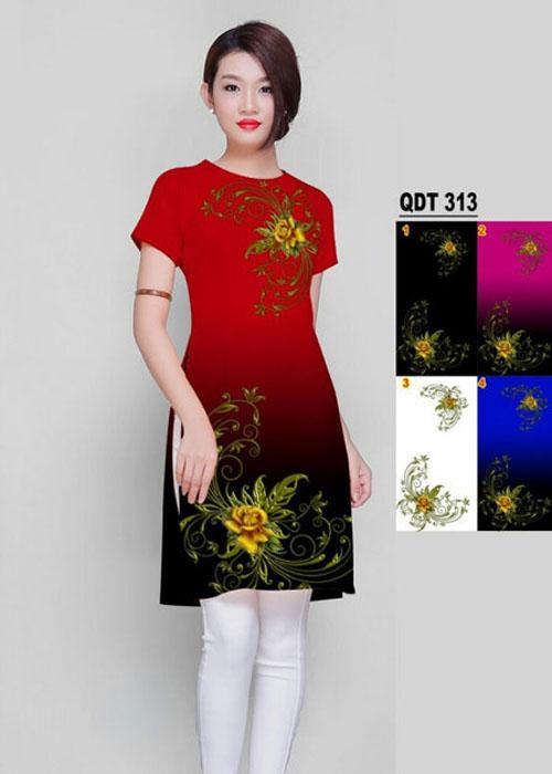 Vải áo dài cách tân in 3D in 3D mã số QDT-313