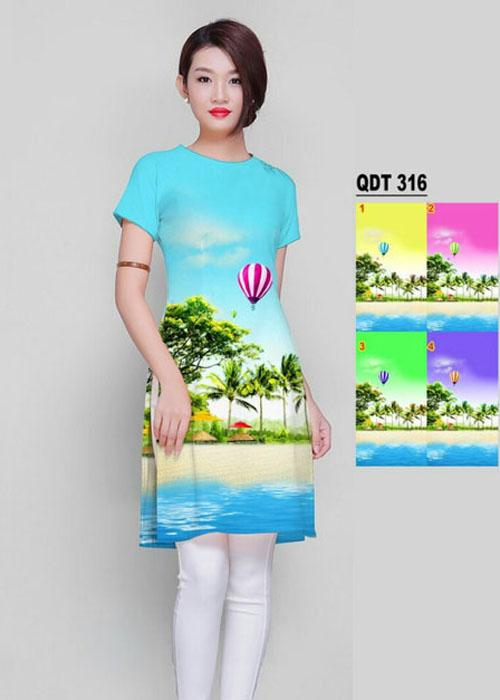 Vải áo dài cách tân in 3D in 3D mã số QDT-316