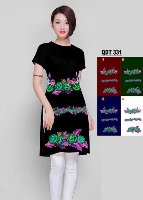 Vải áo dài cách tân in 3D in 3D mã số QDT-331