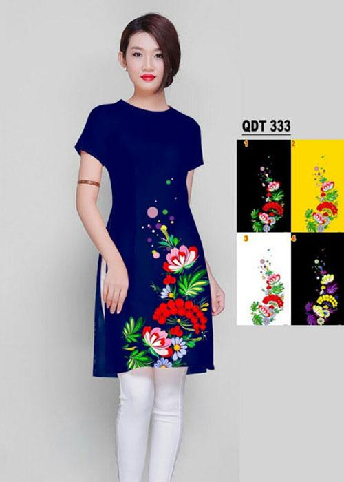 Vải áo dài cách tân in 3D in 3D mã số QDT-333