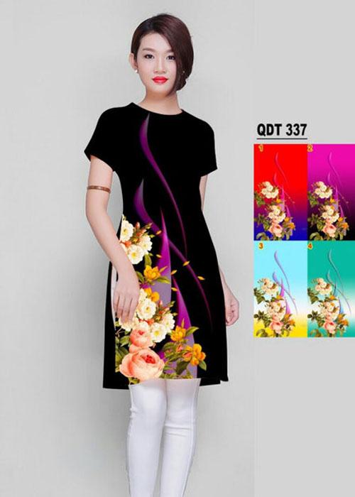 Vải áo dài cách tân in 3D in 3D mã số QDT-337