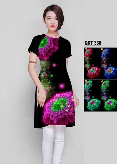 Vải áo dài cách tân in 3D in 3D mã số QDT-338