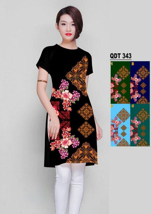 Vải áo dài cách tân in 3D in 3D mã số QDT-343