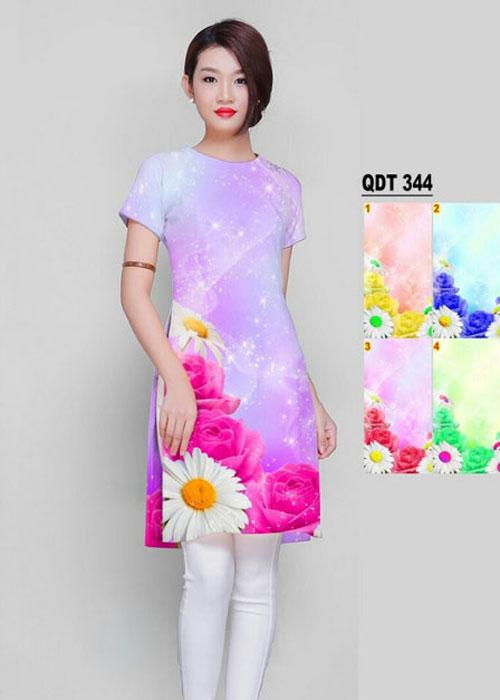 Vải áo dài cách tân in 3D in 3D mã số QDT-344