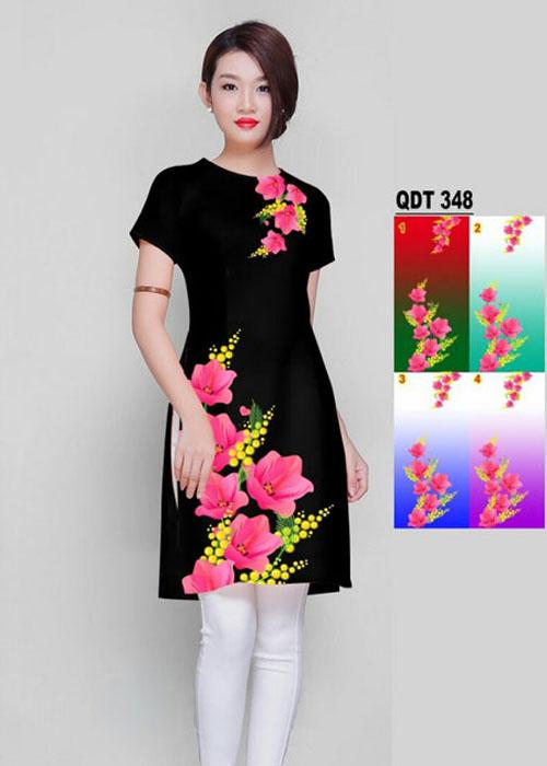 Vải áo dài cách tân in 3D in 3D mã số QDT-348