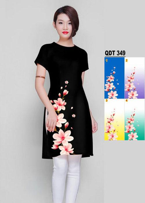 Vải áo dài cách tân in 3D in 3D mã số QDT-349