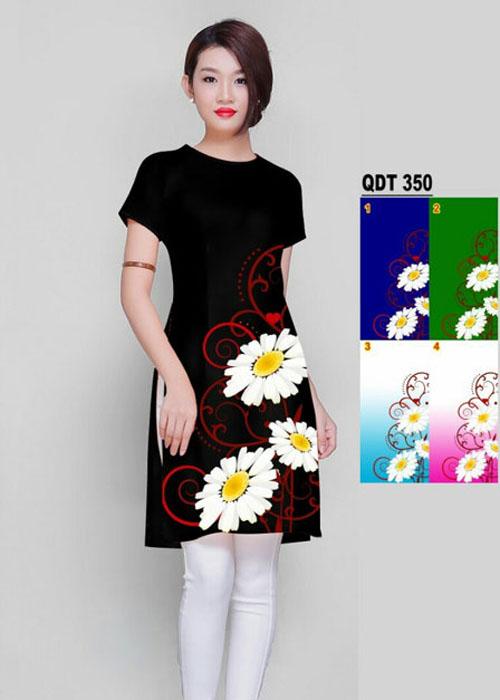 Vải áo dài cách tân in 3D in 3D mã số QDT-350