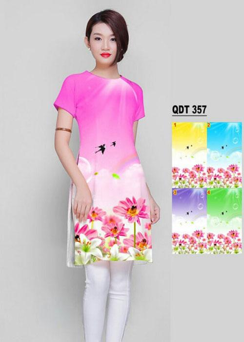 Vải áo dài cách tân in 3D in 3D mã số QDT-357