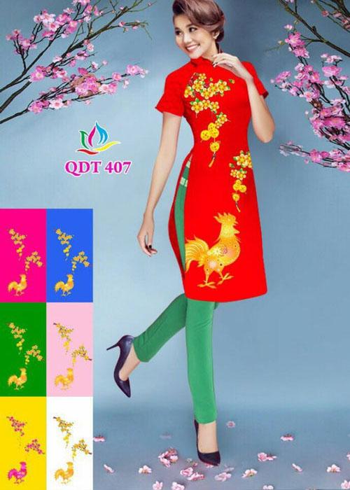 Vải áo dài cách tân in 3D in 3D mã số QDT-407