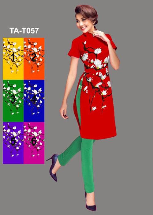 Vải áo dài cách tân in 3D in 3D mã số TA-T057
