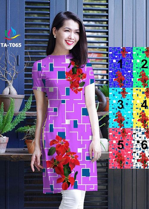 Vải áo dài cách tân in 3D in 3D mã số TA-T065