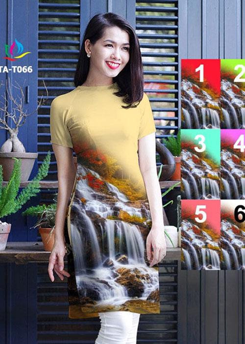 Vải áo dài cách tân in 3D in 3D mã số TA-T066