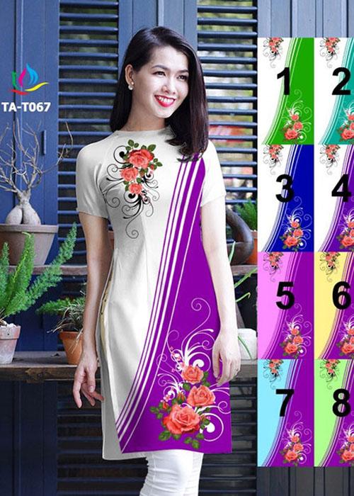 Vải áo dài cách tân in 3D in 3D mã số TA-T067