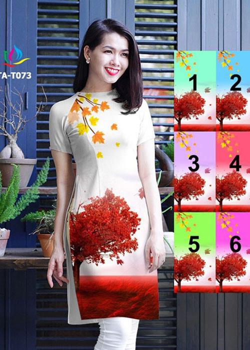 Vải áo dài cách tân in 3D in 3D mã số TA-T073