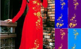 Vải áo dài in 3D đẹp ở Sài Gòn 03