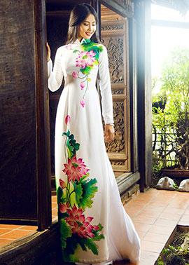 Vải áo dài truyền thống in 3D