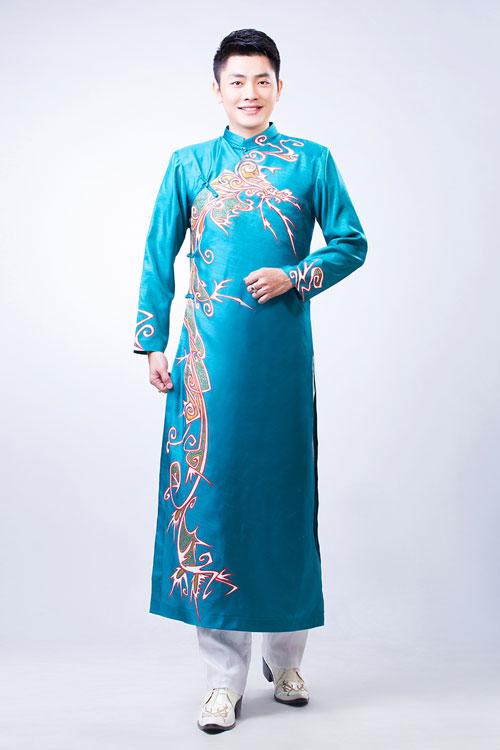 Top 10 mẫu áo dài nam dành cho chú rể 02