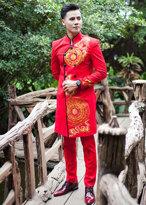Top 10 mẫu áo dài nam dành cho chú rể 04