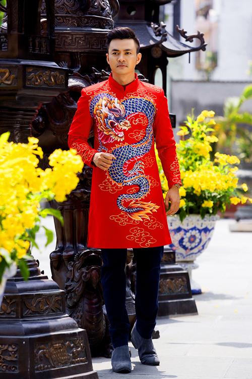 Top 10 mẫu áo dài nam dành cho chú rể 06