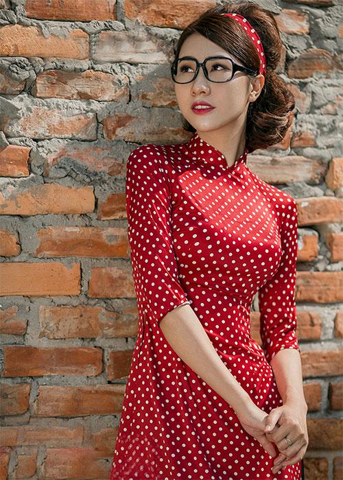Áo dài Cô Ba Sài Gòn mẫu số 4
