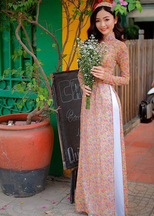 Áo dài Cô Ba Sài Gòn mẫu số 9
