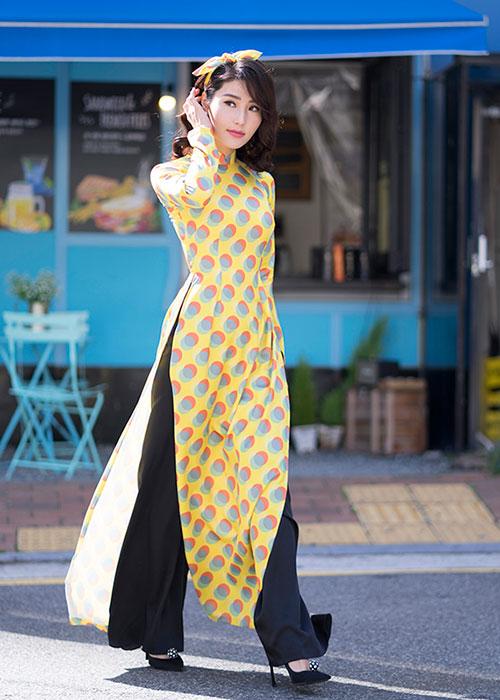 Áo dài Cô Ba Sài Gòn mẫu số 11