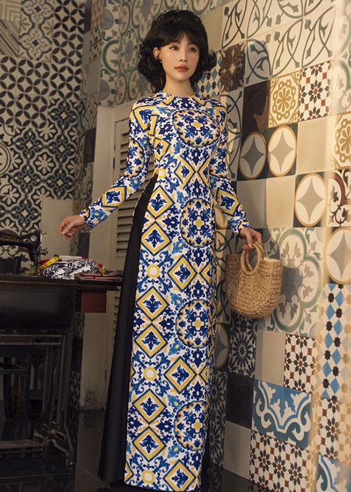 Áo dài Cô Ba Sài Gòn mẫu số 14