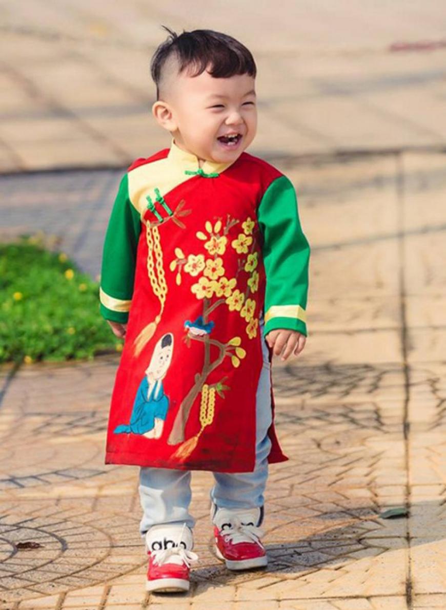 áo dài cách tân cho bé trai