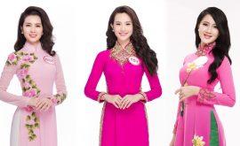áo dài hồng đẹp