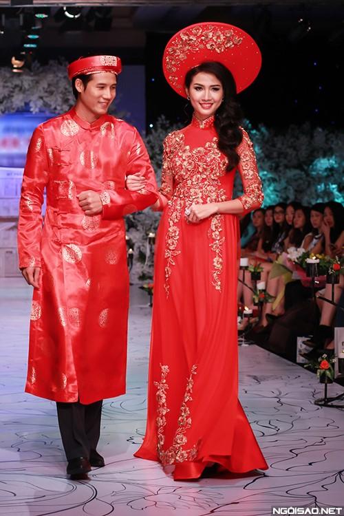 Áo dài cưới cô dâu chú rể truyền thống
