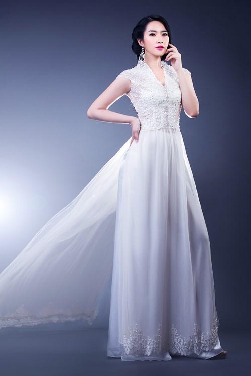 Sự kết hợp từ áo dài cách tân và váy cưới đầy ấn tượng, kiêu sa