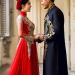 Mẫu áo dài cưới cách tân màu đen trông mới mẻ, lịch lãm, sang trọng không kém gì màu đỏ và trắng