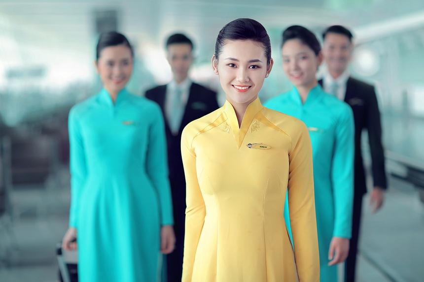 Cổ áo dài Việt Nam Airline