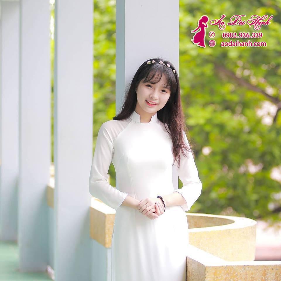 May áo dài học sinh 01